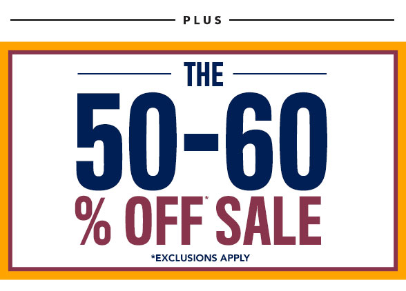 The 50% to 60% Off Sale