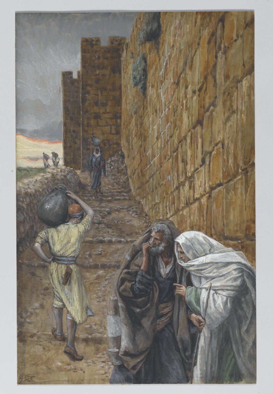 219. Человек, несущий кувшин, 1886-94, 25.1 x 16 cm, Бумага, акварель по графиту