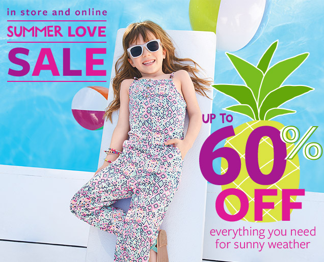 In Store and Online | Summer Love Sale | Up to 60% off everything you need for sunny weather