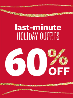 Last-minute holiday outfits | 60% off