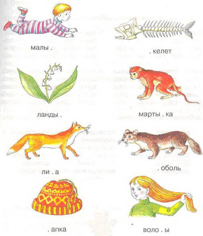 Картинки для занятий по логопедическим упражнениям представляет