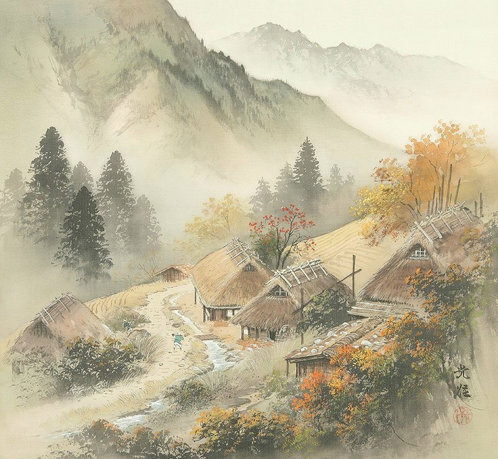 Koukei Kojima - Japanese Landscape painter - Tutt'Art@ (75) (700x644, 374Kb)