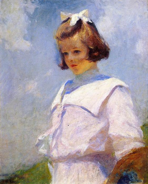 Frank Weston Benson - Portrait of Elizabeth (562x700, 168Kb)