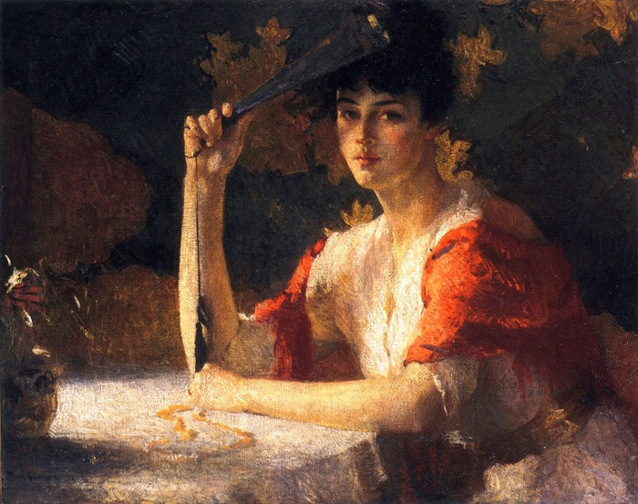 Frank Weston Benson - Red and Gold, 1915 (700x553, 154Kb)