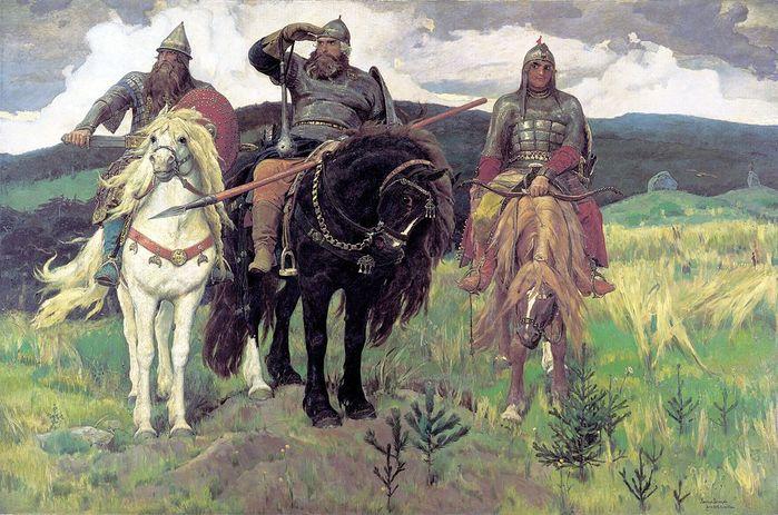 Виктор Васнецов. Богатыри. ГТГ (700x463, 88Kb)