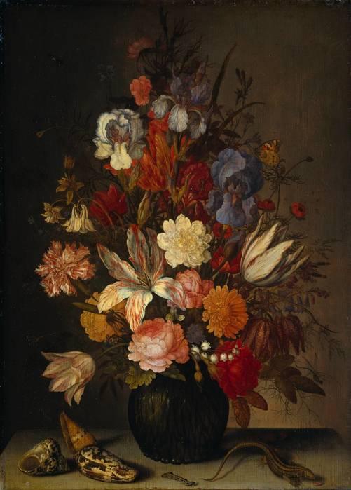 Цветочная ваза с улитками и ящерицей. 1632—1657. Рейксмузей. Амстердам (501x700, 44Kb)