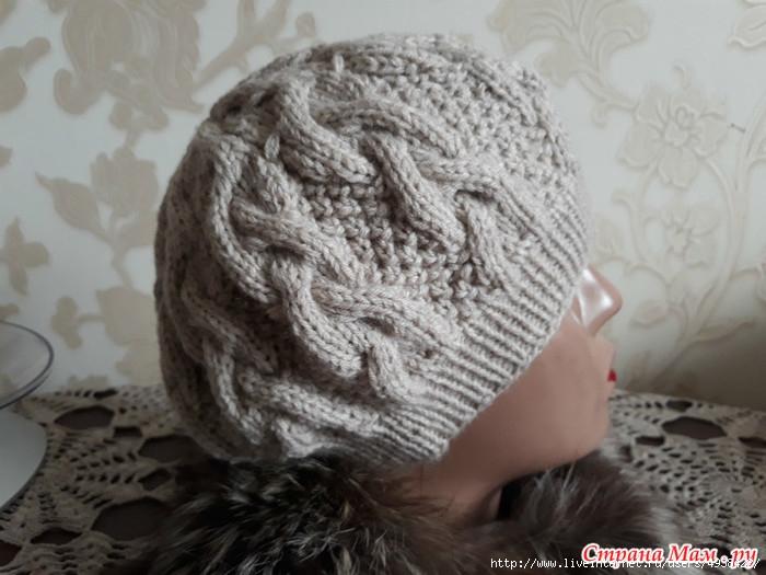 как хорошо уметь вязать шапка берет спицами вязание от светланы заец