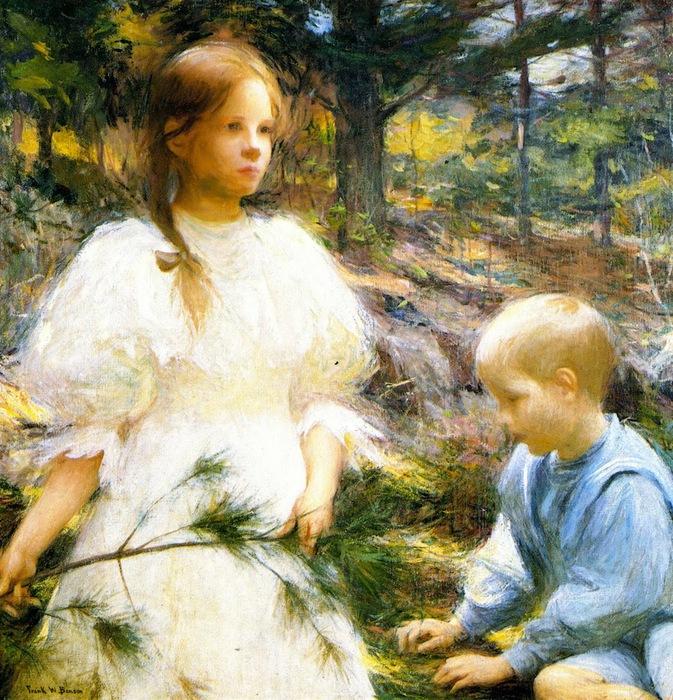 Frank Weston Benson - Children in the Woods 1898 (673x700, 228Kb)