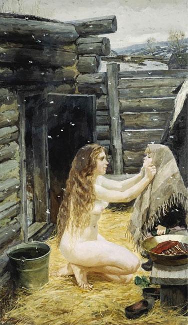 Весна. 1954 год. Государственная Третьяковская галерея. Москва (376x650, 71Kb)