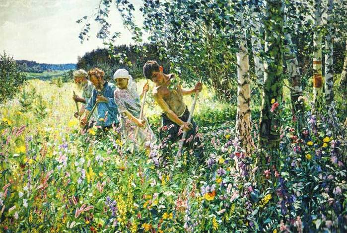 Сенокос. 1945 г. Государственная Третьяковская галерея. Москва (700x469, 98Kb)