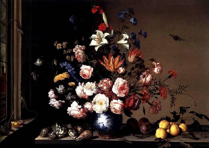Ваза с цветами у окна (700x497, 55Kb)