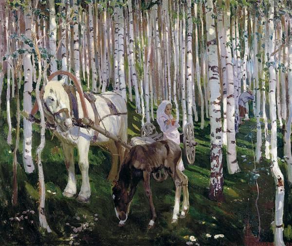 В лесу. 1905