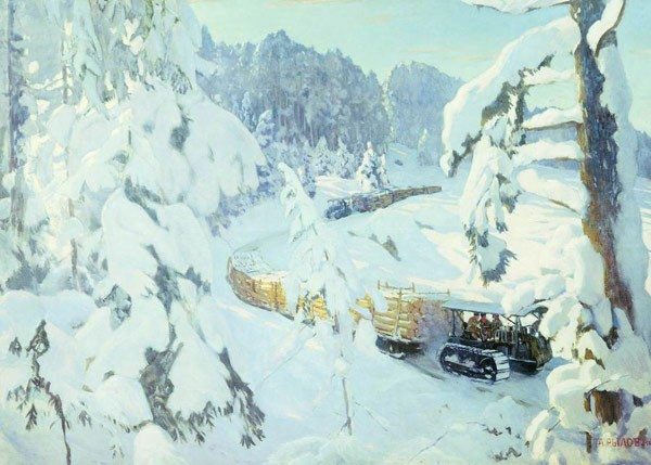 Трактор на лесных работах. 1934