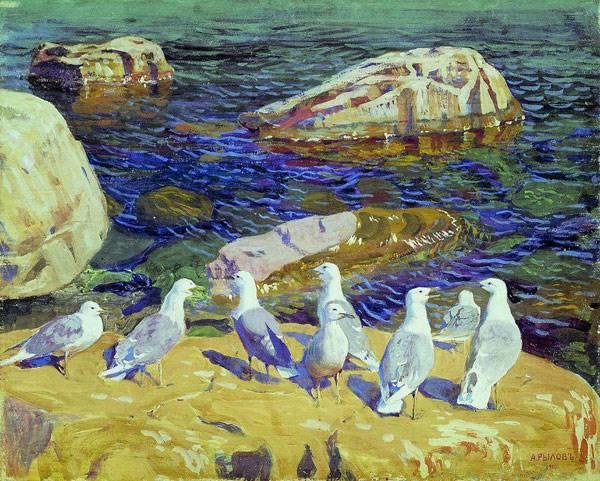 Чайки. 1910. Рылов