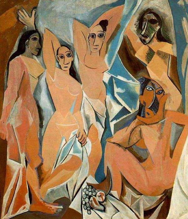 Авиньонские девицы. Пабло Пикассо, 1907 год. | Фото: masterpiecesociety.com.
