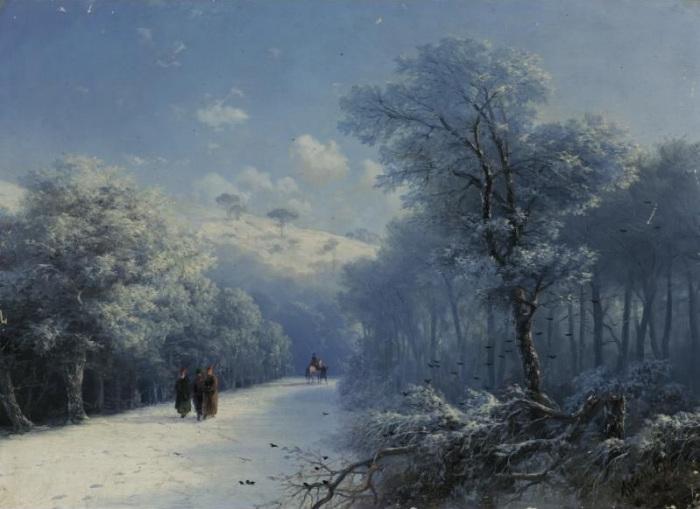 Зимний пейзаж. И. Айвазовский. | Фото: liveinternet.ru.