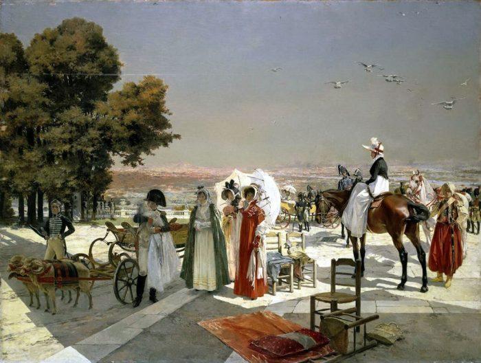 Приём в Компьене в 1810 год. Автор: Francois Flameng.