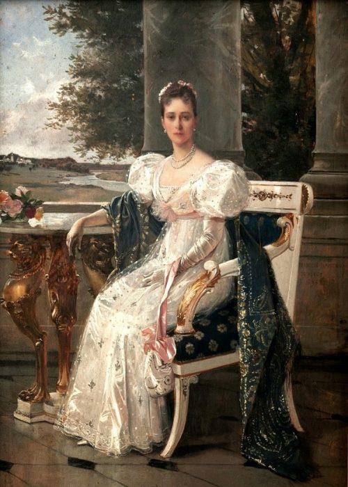 Портрет Великой княгини Елизаветы Федоровны. Автор: Francois Flameng.
