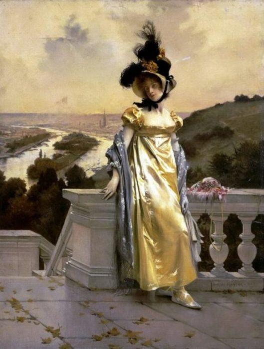 Женский портрет. Автор: Francois Flameng.