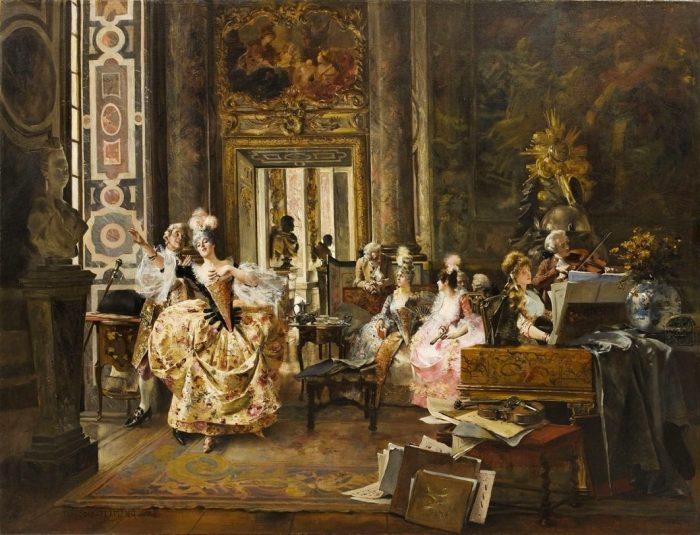 Концерт. Автор: Francois Flameng.