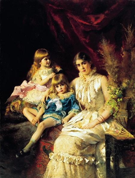 Семейный портрет. 1882. Автор: Константин Маковский.