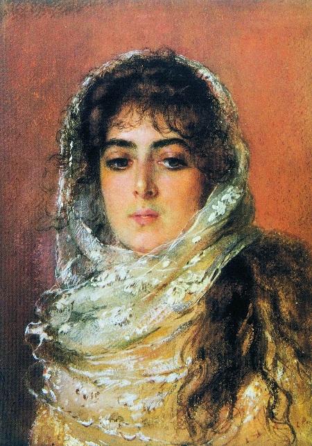 Портрет жены художника Юлии Павловны Маковской. (1887). Автор: К.Е. Маковский.