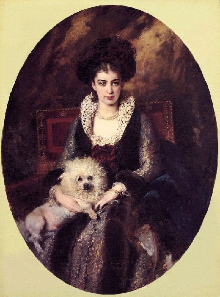 Портрет жены художника, Марии. Автор: К.Е. Маковский.