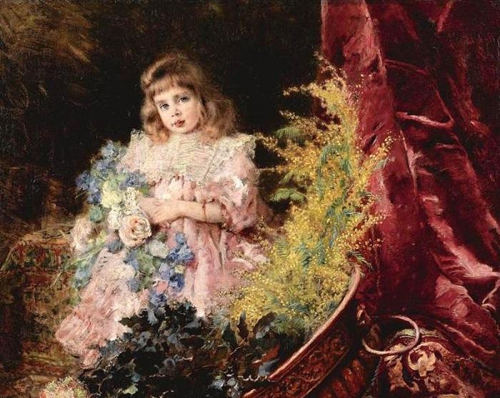 Портрет дочери художника Марины. Автор: К.Е. Маковский.