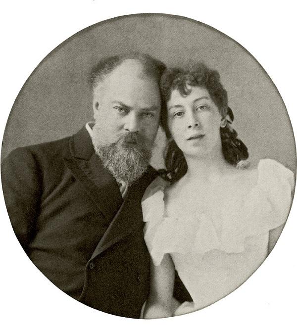 Константин Маковский с  Марией Матавтиной.