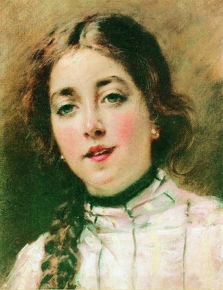 Портрет дочери художника Оленьки. 1900-е. Автор: К.Е. Маковский.