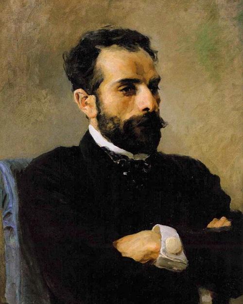 Портрет И.И. Левитана.  (1891). Автор: Василий Поленов