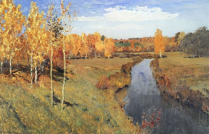 Золотая осень. (1895). Автор: Исаак Левитан.