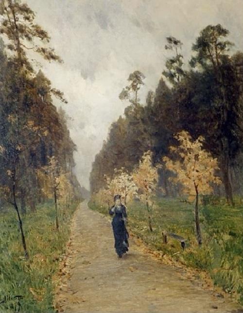 Осенний день. Сокольники. (1879). Автор: Исаак Левитан.