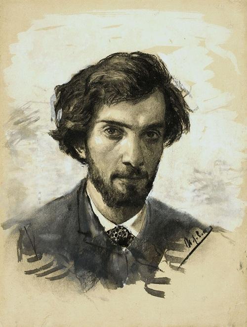 Автопортрет. (1885). Автор:Исаак Левитан.