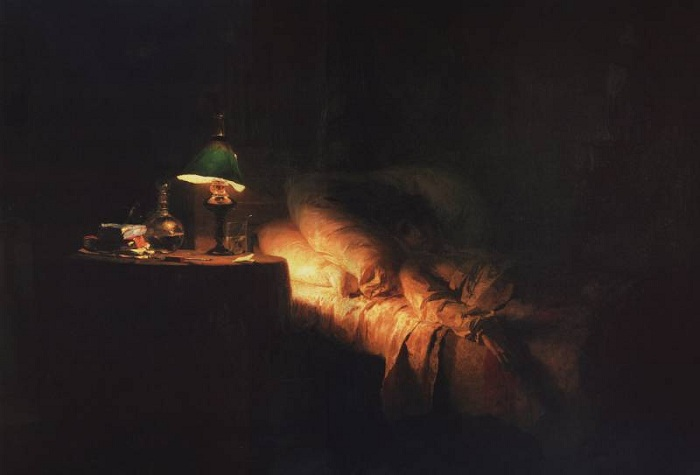 Больная. (1886). Автор: Василий Поленов.