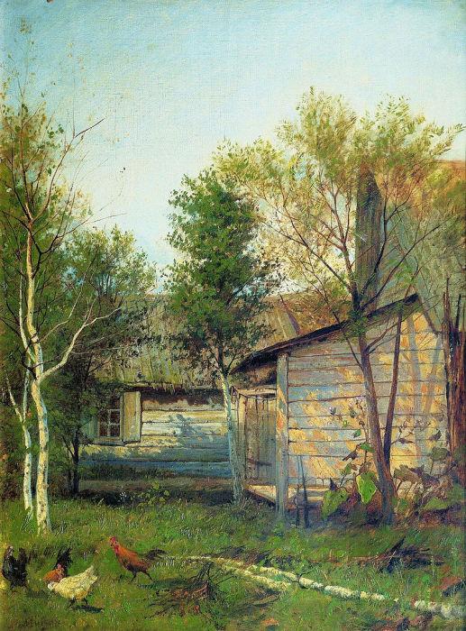 Солнечный день. Весна. (1876-1877). Автор: Исаак Левитан.