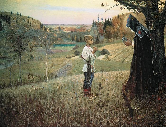 Видение отроку Варфоломею. (1889—1890).Автор: Михаил Нестеров.