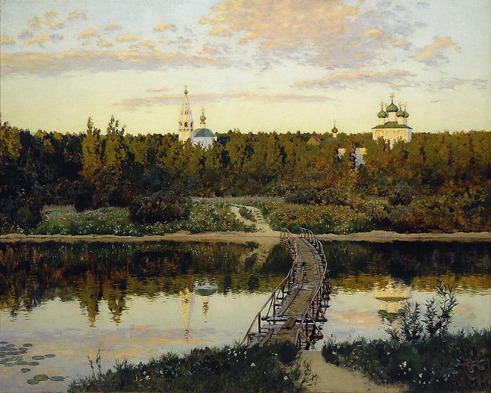 Тихая обитель. (1890) Автор: Исаак Левитан.