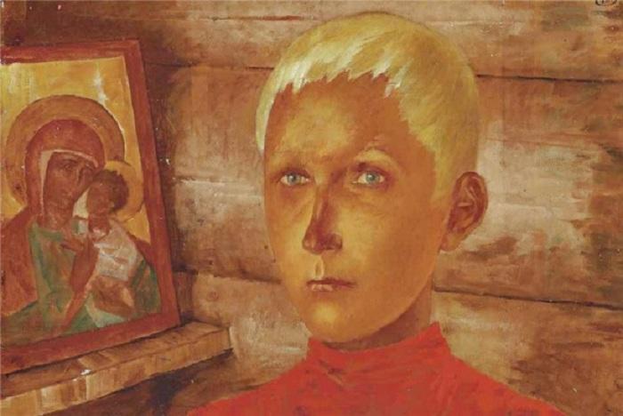 Вася. (1916). Автор: К.С. Петров-Водкин.