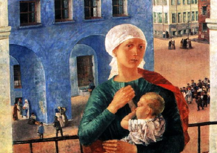Петроградская мадонна. (1918). Автор: К.С. Петров-Водкин.