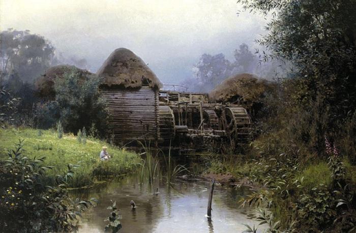 Старая мельница. (1880). Автор: Василий Поленов.