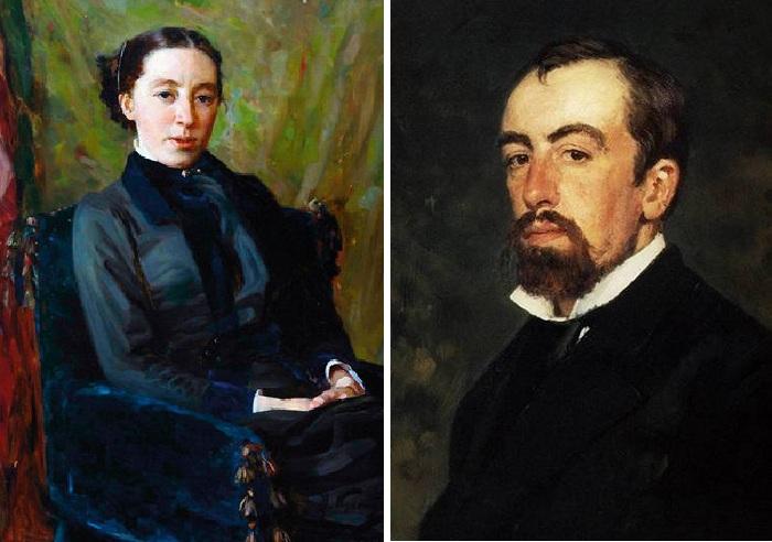 Наталья Васильевна Якунчикова и Василий Дмитриевич Поленов.