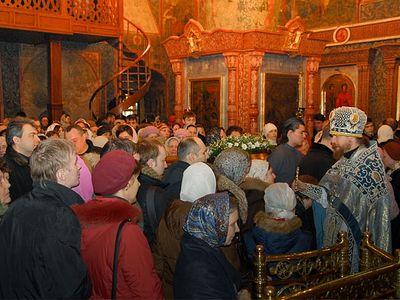 Божественная литургия на Сретение Господне в Сретенском монастыре