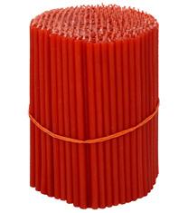 Красные восковые церковные свечи №140 (Ивановские) - 1 кг
