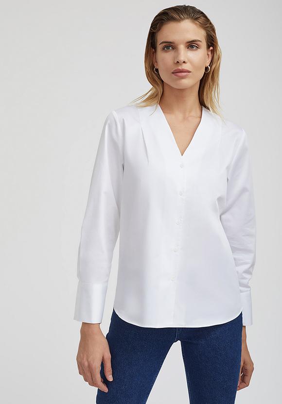 Рубашка с защипами