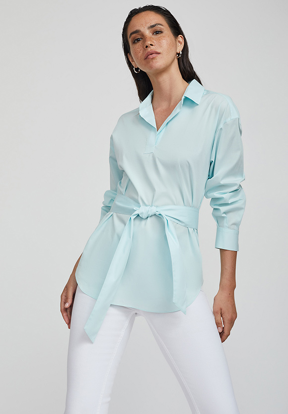 Рубашка с широким поясом