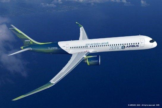 Airbus представил концепты самолетов с нулевым уровнем выбросов