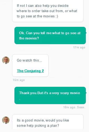 Служба поддержки клиентов и правда хороша – консультант не только отозвался на мою просьбу составить план работы с сервисом, но и посоветовал фильм для просмотра – «Заклятие-2»