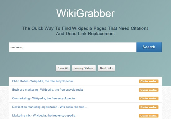 Сервис WikiGrabber