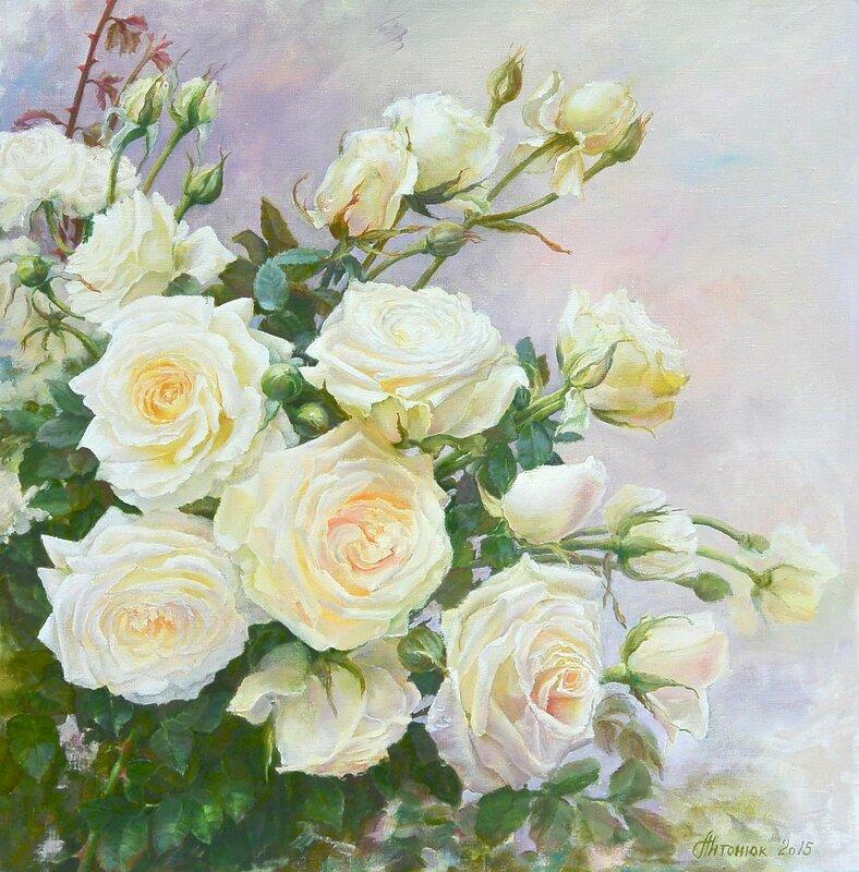 Светлые розы